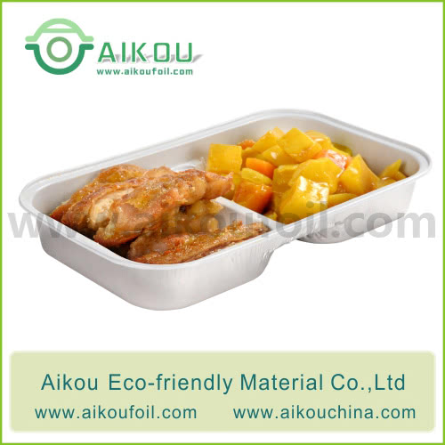 Disposable take away food container Alu25 370ML