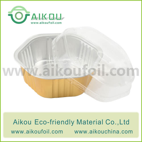 Disposable pet food container Alu65 450ML