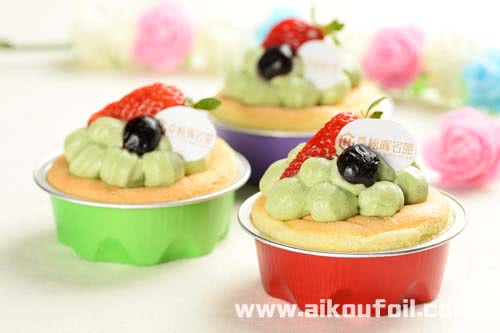 Fruit pie with cream baking Alu34