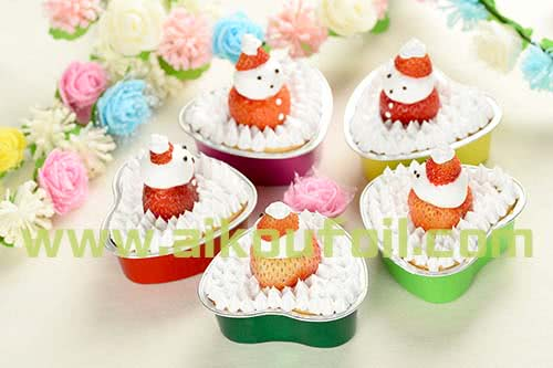 Heart-shape snowman cake baking Alu30