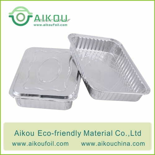 Foil takeaway container with lid 2220-44 2220ML
