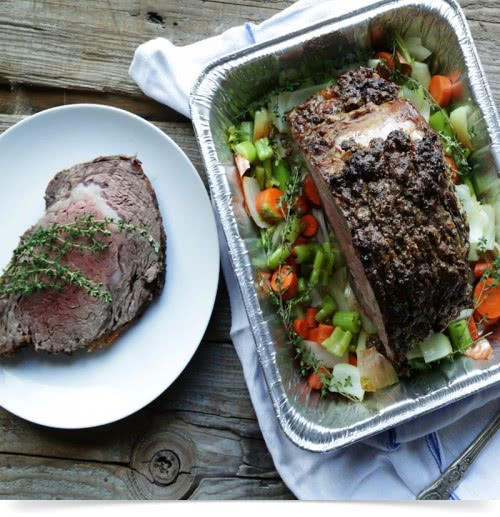 Foil Tray Serving---Prime Rib Roast